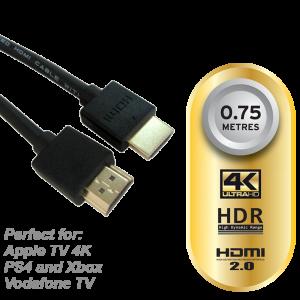 Aeon HDMI Cable 0.75M 4K