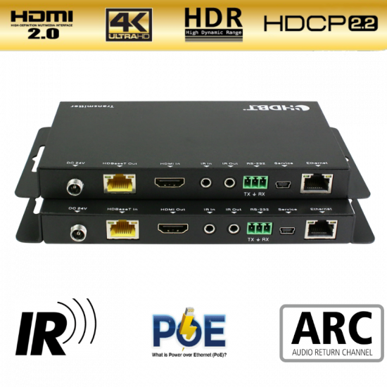 Mian Promo for Aeon's 4K/60hz HDR HDMI Extender via Cat6